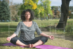 Woman Sitting Doing Yoga